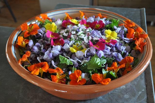 salade aux fleurs