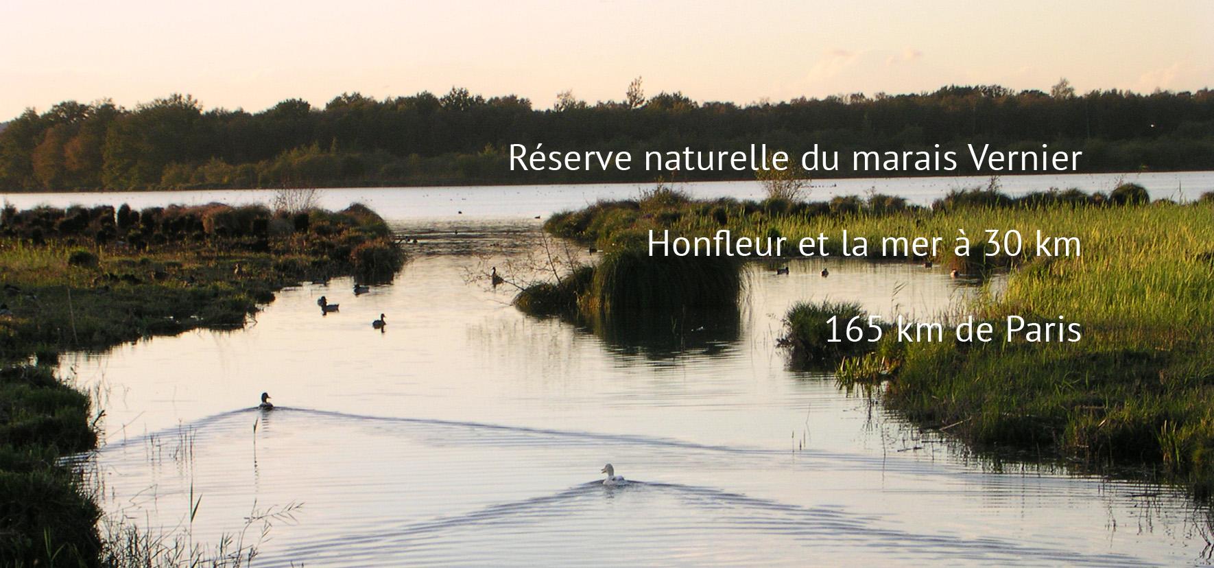 Lodge Saint Thurien - Réserve Naturelle du marais Vernier à 2h de Paris
